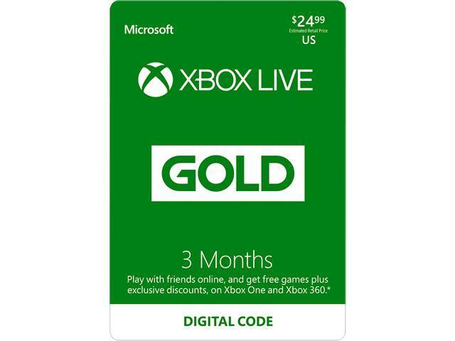 Xbox LIVE 3 Month Gold Membership US (Digital Code)