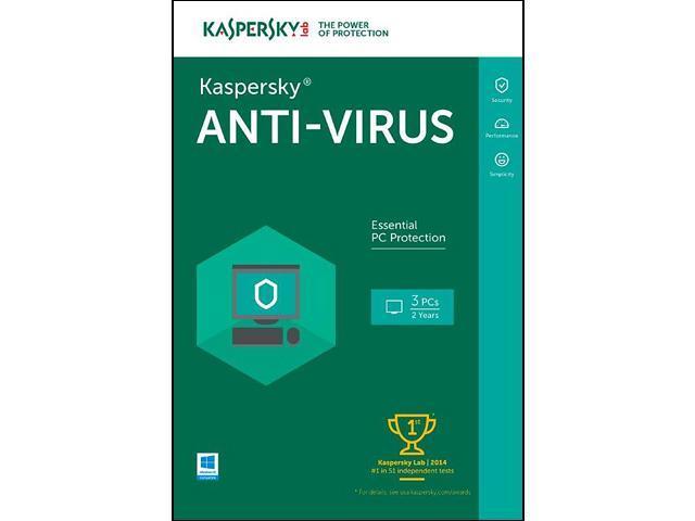 Kaspersky Anti-Virus 2016 for 3 PCs