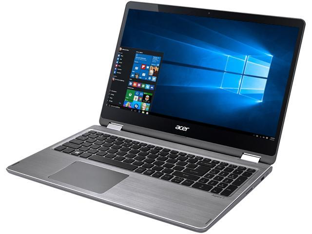 "Acer Aspire R5-571TG-51A3 Intel Core i5 7th Gen 7200U (2.50 GHz) 8 GB Memory 128 GB SSD 1 TB HDD NVIDIA GeForce 940MX 15.6"" Touchscreen 1920 x 1080 Convertible 2-in-1 Laptop Windows 10 Home 64-Bit"