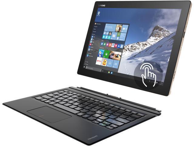 "Lenovo IdeaPad Miix 700 80QL0009US Intel Core M5 6Y54 (1.10 GHz) 4 GB Memory 128 GB SSD 12"" Touchscreen 2160 x 1440 2-in-1 Laptop Windows 10 Pro"