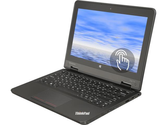 "Refurbished: Lenovo ThinkPad Yoga 11e Intel Celeron N2930 (1.83 GHz, Turbo Boost to 2.16 GHz) 4 GB Memory 320 GB HDD Intel HD Graphics 11.6"" Touchscreen 1366 x 768 Convertible 2-in-1 Laptop Windows 10 Pro"