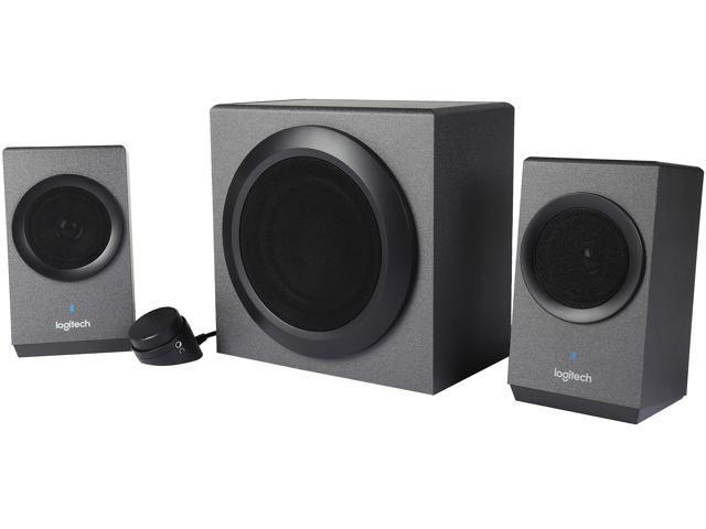 Refurbished: Logitech Recertified 980-001260 Z337 40 Watts 2.1 Home Audio Speakers