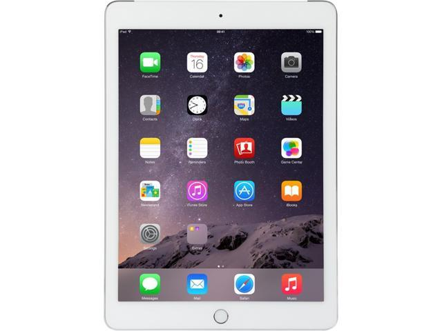 """Refurbished: Apple iPad Air 2 MH2N2LL/A Apple A8X 1.50 GHz 64 GB Flash Storage 9.7"""" 2048 x 1536 Grade B Tablet (Wi-Fi + Cellular) iOS Silver"""