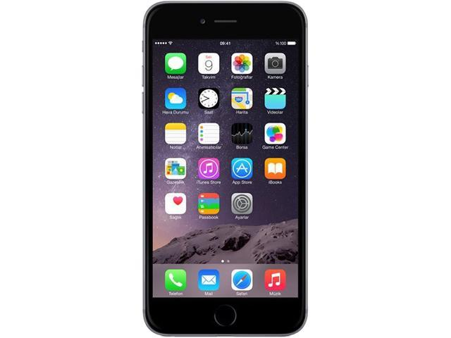 "Refurbished: Apple iPhone 6 Plus 16GB 4G LTE Unlocked GSM Cell Phone 5.5"" 1GB RAM Space Gray"