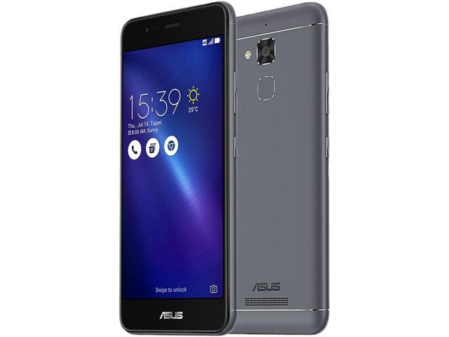 "Refurbished: Asus ZenFone 3 MAX ZC520TL 4G LTE Unlocked Cell Phone 5.2"" Gray 16GB 2GB RAM"