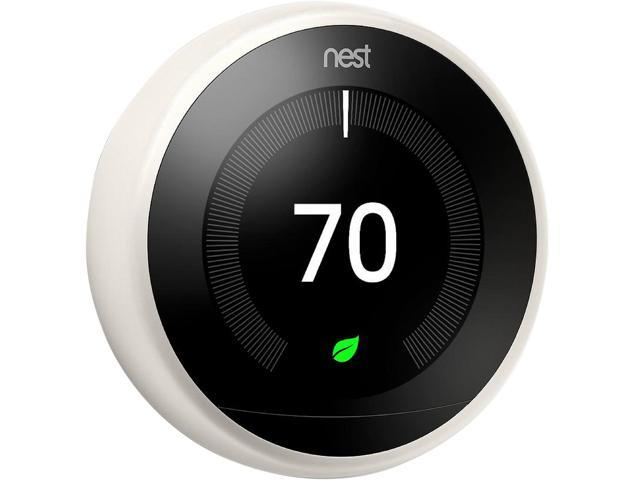 Nest Learning Thermostat 3rd Generation, White, Works with Google Home and Amazon Alexa