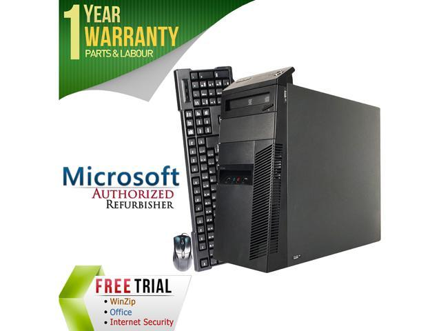 Refurbished: Lenovo Desktop Computer M91 Intel Core i5 2nd Gen 2400 (3.10 GHz) 4 GB DDR3 250 GB HDD Intel HD Graphics 2000 Windows 10 Pro 64-Bit