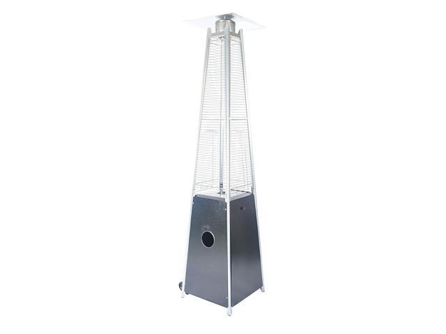 Legacy Heating 40,000 BTU 89-Inch Outdoor Pyramid Quartz Glass Tube Patio Heater CAPH-GT-S