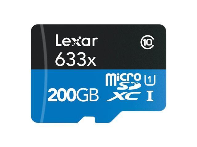 Refurbished: Lexar High-Performance microSDXC 633x 200GB Class 10 UHS-I Memory Card