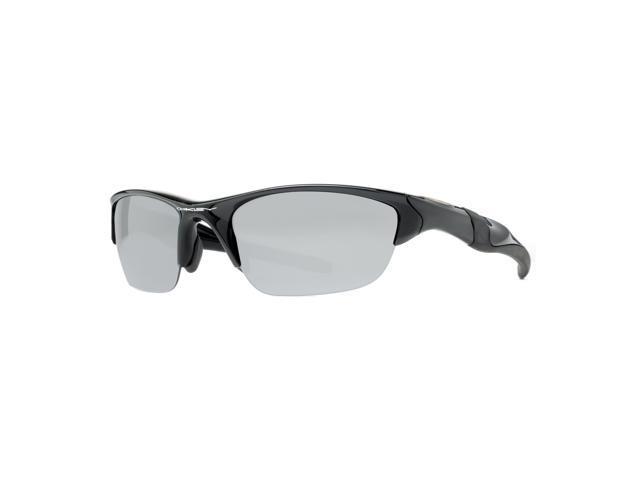 50ba7573a59 Oakley Half Jacket Polarized Sunglasses 2.0 OO9144-01 Polished Black Frame    Black Iridium Lenses ...