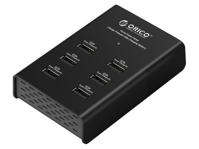 ORICO DUB-6P 72W 6 Port USB Charging Station - Black