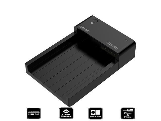 [Support UASP & 8TB] ORICO Tool-Free 2.5 & 3.5 in USB 3.0 to SATA External Hard Drive Enclosure HDD SSD Docking Station Horizontal Lay-Flat HDD Installation Design for 2.5 Inch & 3.5 Inch HDD SSD