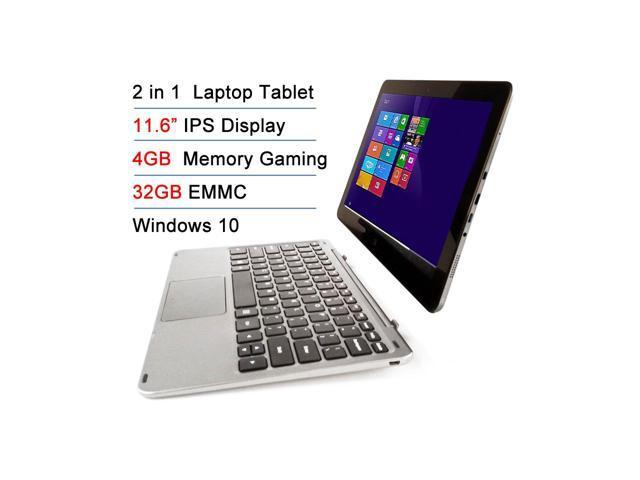 "Refurbished: Intel Atom X5 Z8300 11.6"" IPS 4GB RAM 32GB EMMC Touchscreen 2-in-1 Laptop Tablet PC Windows 10 + Bluetooth keyboard Docking"