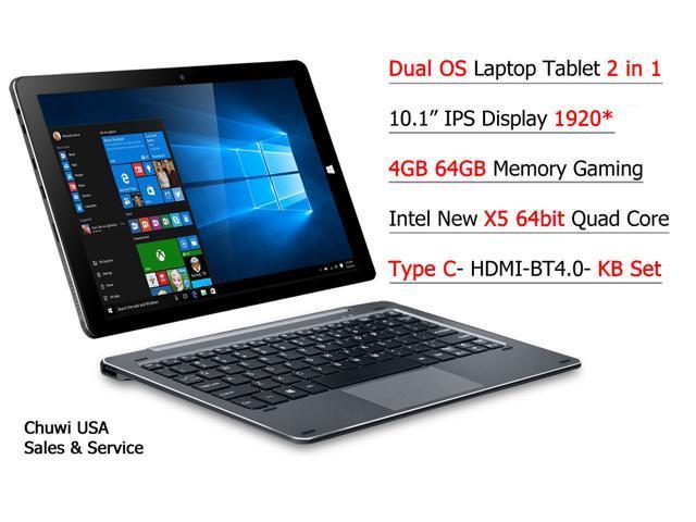 "ChuwiUSA New Hi10 PRO  10.1"" FHD IPS Windows 10/Android 5.1 Dual Boot 2-in-1 Tablet PC Intel X5 Quad Core 4GB 64GB + Detachable keyboard Docking"