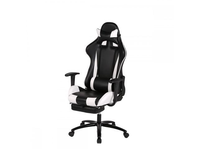 BestMassage RC1 Gaming Chair High-Back Computer Ergonomic Design Racing Chair - White
