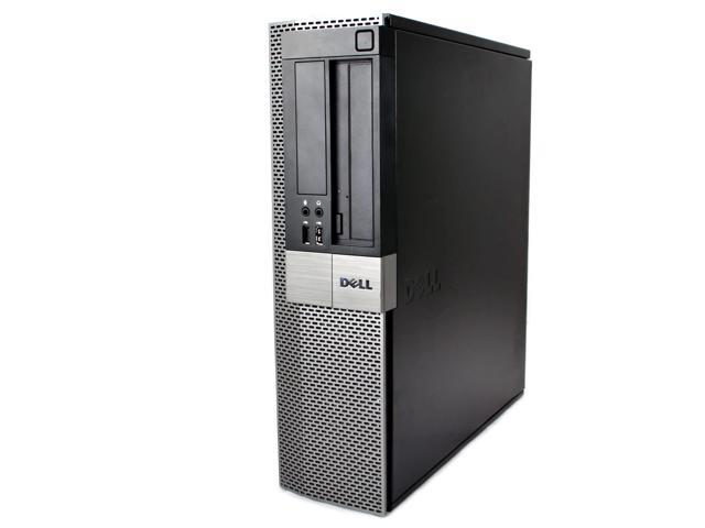 Refurbished: Dell Black Optiplex 960 Desktop Intel Core 2 Duo 2.9GHz 4GB RAM 320GB HDD Intel HD Graphics 4500 DVD-ROM Windows 10 Home