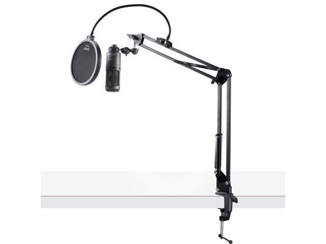 Audio-Technica AT2020USB+ Condenser USB Microphone w/ Knox Pop Filter & Boom Arm