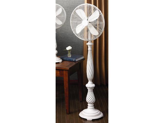 Deco Breeze White Spiral Twist 3 Speed Floor Fan Providence