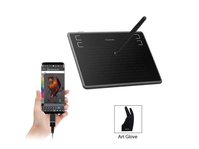 Huion H430P OSU Graphics Drawing Tablet with Glove and 4 Express