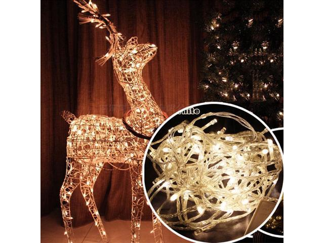 Warm White - 100 LED Fairy String Lights Lamp for Christmas Tree Holiday Wedding Party Xmas Decoration Halloween Showcase Displays Restaurant or Bar and Home Garden - OEM