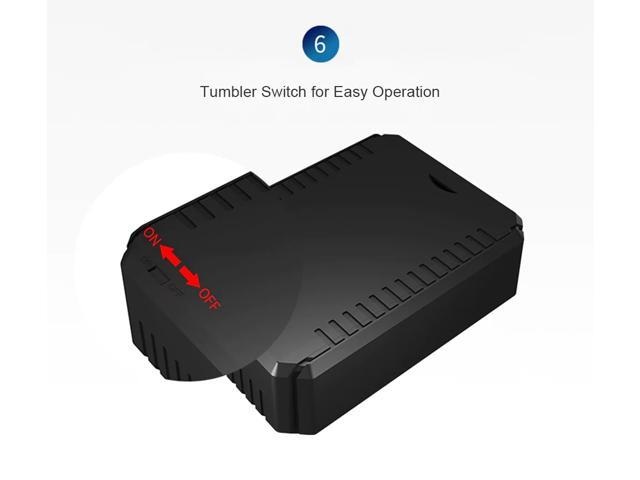 K6 Mini Vehicle Magnetic Anti-theft Locator GPS Positioner Electronic Fence Real-time Positioning Tamper Alarm - Black