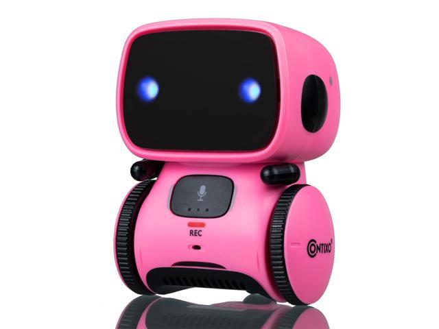 Contixo R1 Kids Mini Talking Robot | Voice Controlled, Sings & Dance, Funny for Adults & Family, Interactive Children's Toy for Boys, Girls, Infants & Toddlers (Pink)
