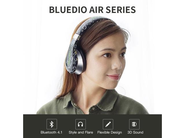 Bluedio A (Air) Fashionable Wireless Bluetooth Headphones with Microphone HD Diaphragm Twistable Headband 3D Surround Sound - Black