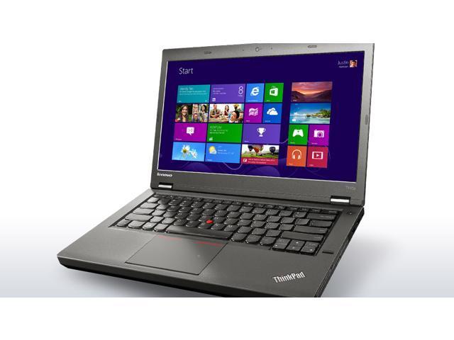 "Refurbished: Thinkpad T440p i5-4300M 2.6GHz 4G RAM 320G HDD 14"" HD+ (1600x900) W10 Pro CAM Lenovo Business Laptop (20AWS0DU00) - FREE Carrying Case"