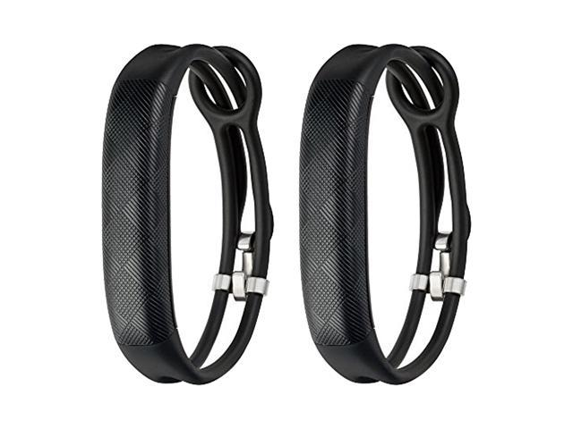 Jawbone UP2 His & Her Lightweight Strap Fitness Trackers for Smartphones - 2 Pack - Black & Black