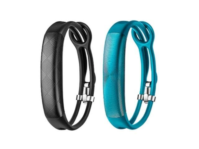 Jawbone UP2 His & Her Lightweight Strap Fitness Trackers for Smartphones - 2 Pack - Black & Blue