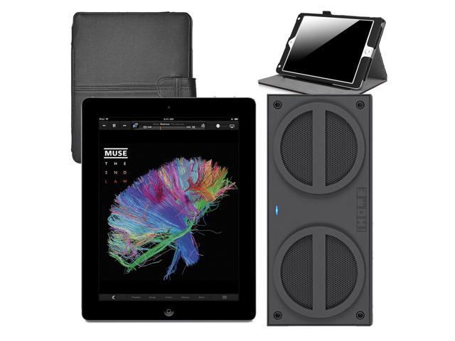 Refurbished: Apple iPad Mini MD529LL/A (32GB, Wi-Fi, Black)  + iHome iBN24 Bluetooth Mini Speakers + iPad Mini Case - OEM