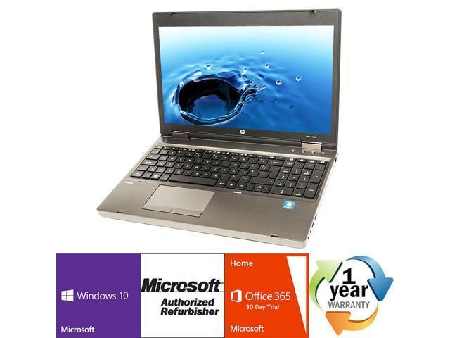 "Refurbished: HP ProBook 6570b Intel i5 Dual Core 2600 MHz 320Gig Serial ATA 2GB DVD ROM 15.0"" WideScreen LCD Windows 10 Home 32 Bit Laptop Notebook"