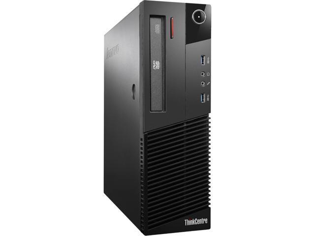 Refurbished: Lenovo ThinkCentre M93p SFF - Intel Core i5-4570 (Quad Core 4th Gen.) 3.20GHz - 8GB RAM - 240GB SSD - DVD/RW - Windows 10 Pro