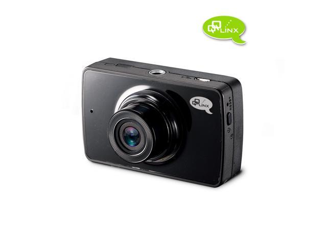 QQLinx Owl Eye True Full HD 1080P Dash Cam with 8GB SD Card – Super Night Vision, 140° wide angle, WDR, G-Sensor, Auto File Locking,  Hit and Record and loop recording.