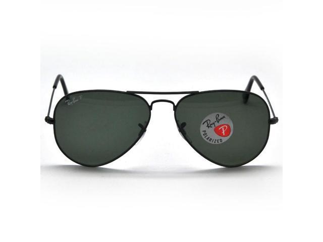 0bb06e6c63f Ray Ban RB3025 002 58 Aviator Classic Sunglasses (58mm) - Polarized Green  Lens