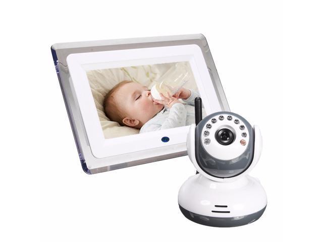 2.4G Wireless Digital 7'' LCD Night Vision Baby Monitor Camera Audio Talk Video