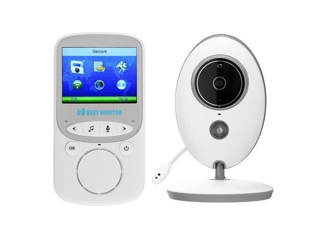 Wireless Baby Monitor 2.4GHz Color LCD Audio Talk NightVision Digital Video Safe