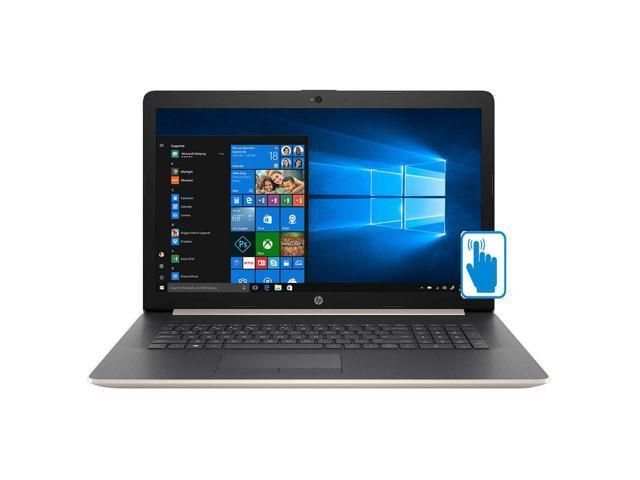 "HP 17.3"" High Performance Touchscreen Laptop in Pale Gold (Intel i5-8250U 4-Core, 16GB RAM, 1TB HDD + 512GB PCIe SSD, 17.3"" HD 1600x900 Touch, AMD Radeon 530, WiFi, Webcam, Microphone, Win 10 Home)"