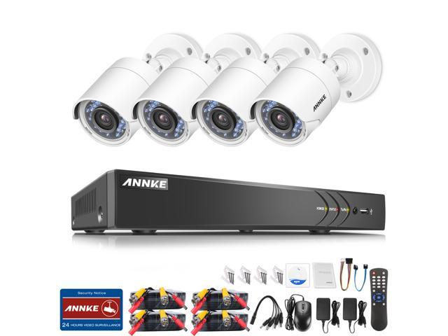 ANNKE 8CH 3.0MP HD-TVI 5-in-1 Surveillance DVR Security Camera System(4)2.0MP Outdoor CCTV Camera, No HDD