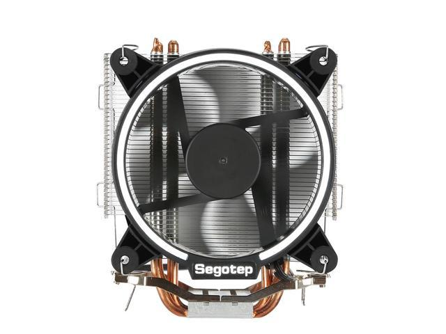 Segotep Frozen Tower T5 CPU Radiator 5 Direct Contact Heat Pipe PWM Temperature Control 7 High Strength Fans - Black
