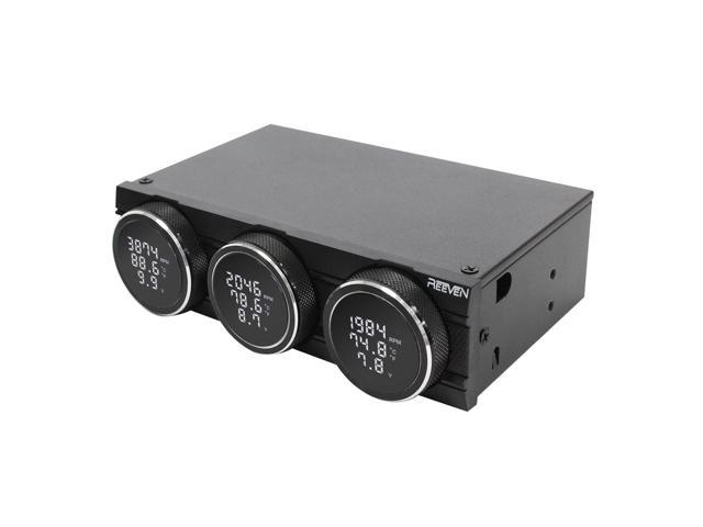 "Reeven Polariz - 5.25"" Bay Fan Controller 3 Channels 36W Output"