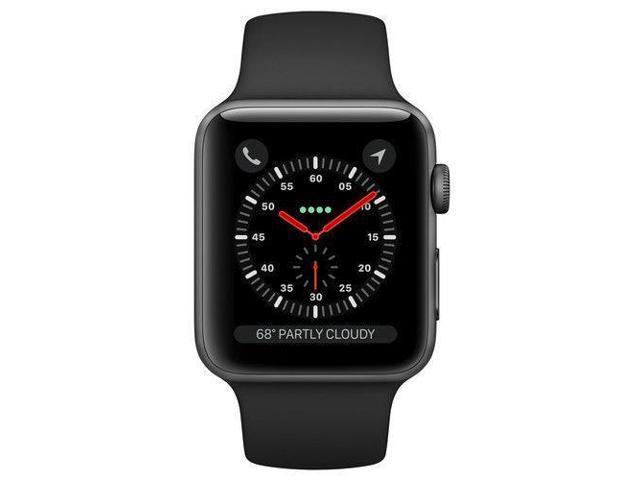 Refurbished: Apple Watch Series 3 42mm Gray Aluminium Case / Black Sport Band. GPS + CELLULAR