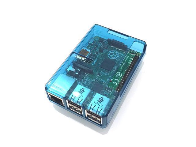 Blue Transparent Case for Raspberry Pi 3 & PI 2 Model B and B+