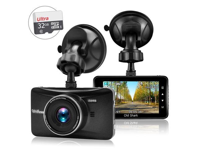 Old Shark Full HD 1080P Dash Cam w/ 32GB SD Card Included
