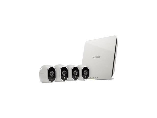 Refurbished: NETGEAR Arlo Smart Home Security Camera System - 4 HD, 100% Wire-Free, Indoor / Outdoor Cameras with Night Vision Battery Powered - VMS3430-100NAR - OEM