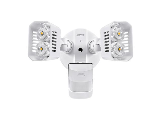SANSI LED Security Lights, 18W (150Watt Incandescent Equiv.) Motion Sensor Lights, 1800lm 5000K Daylight Waterproof Outdoor Floodlights with Adjustable Dual-head, White