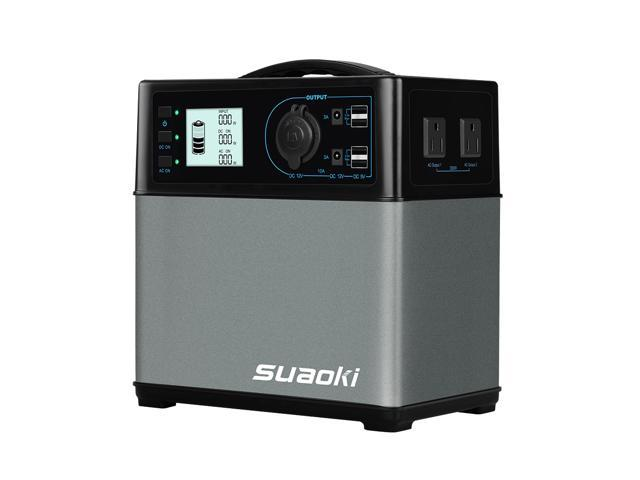 Suaoki 400Wh 120,000mAh Solar Power Generator Supply with 4 USB Ports/2 AC DC Inverters/1 Cigarette Lighter Socket, Charged by Solar Panel/AC Outlet/Cars