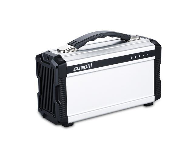 Suaoki Portable 20,000 mAh 11.1V Solar Generator, Power Supply Energy Storage, Gas-free Built-in Invertor, Outdoor Power Source