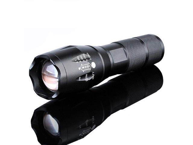 X800 Bright Tactical Flashlight LED Military Zoomable Torch Lamp Light G700