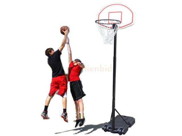 Portable Basketball Hoop System Stand Kids Youth Indoor Outdoor Sport w/ Wheels